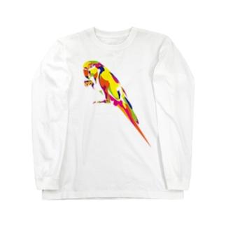 コンゴウインコ Long sleeve T-shirts