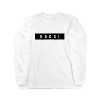 dacci ブロック(白字) Long sleeve T-shirts