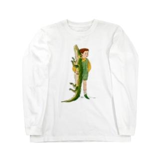 ワニと僕 Long sleeve T-shirts