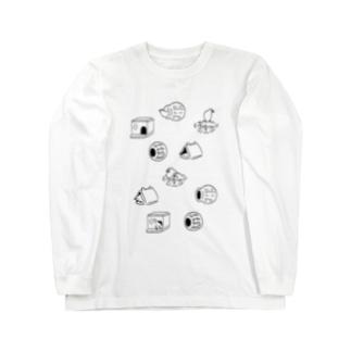 文鳥の巣 Long sleeve T-shirts
