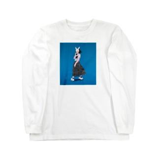 blue girl Long sleeve T-shirts