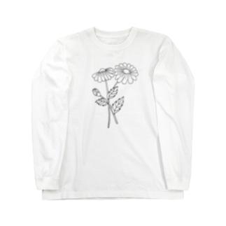 黒デイジー Long sleeve T-shirts