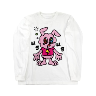 JUNKIE GREY【Pink】        Long sleeve T-shirts