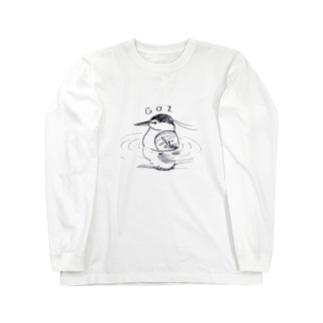 ゴイサギ Long sleeve T-shirts