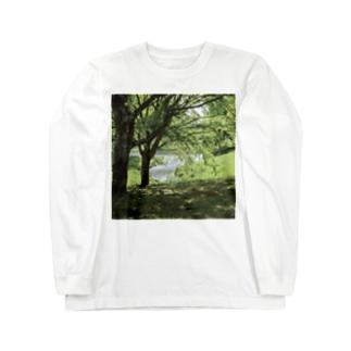 癒しの風景(樹木) Long sleeve T-shirts