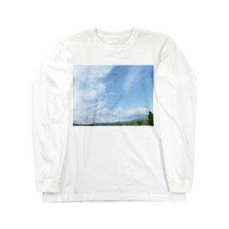 癒しの風景(空と雲) Long sleeve T-shirts