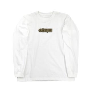 Chanpulle logo ブラウン Long sleeve T-shirts