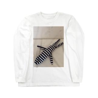 たてしまよこしまななめしまちゃん Long sleeve T-shirts