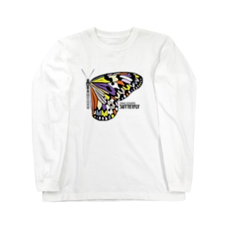 TAKESHI IS TAKESHIのTREE NYMPH BUTTERFLY_c Long sleeve T-shirts