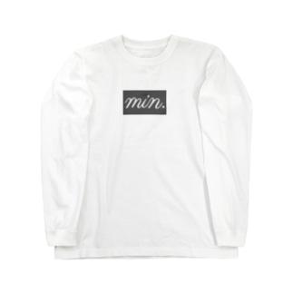 new シンプルボックスロゴ Long sleeve T-shirts