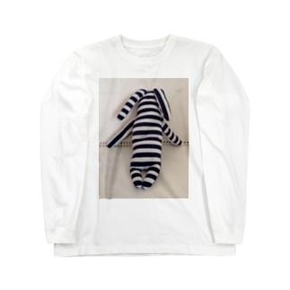 helLoverylUckyMEのぐで~んな、たてしまよこしまななめしまちゃん Long sleeve T-shirts
