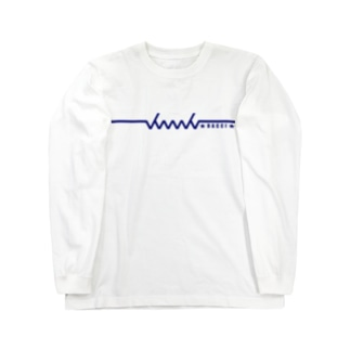 dacci newロゴ文字有(青) Long sleeve T-shirts