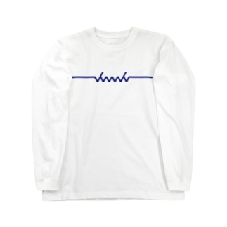 dacci newロゴ(青) Long sleeve T-shirts