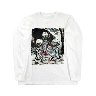 餓鬼 Long sleeve T-shirts