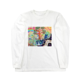 TONA1045の地球のたねたまご Long sleeve T-shirts