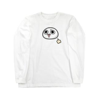 モチゾーおなら(白フチなし) Long sleeve T-shirts