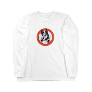 オーストラリアンキャトルドッグ Long sleeve T-shirts