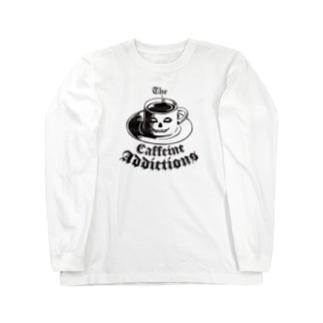 地獄の休憩 The CAFFEINE ADDICTIONS (Hell Breaks) Long sleeve T-shirts