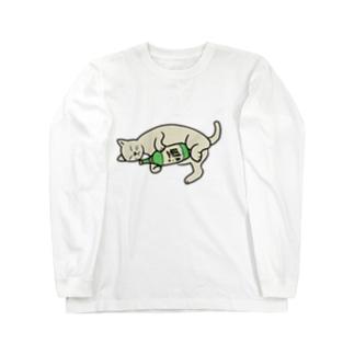 酒とねこ Long sleeve T-shirts