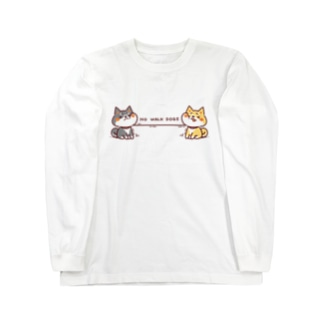 NO WALK DOGS Long sleeve T-shirts