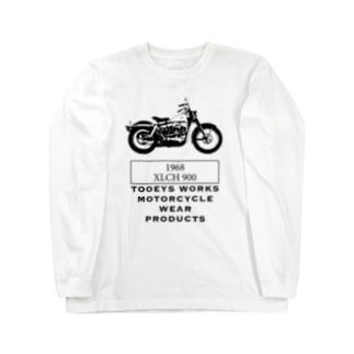 ハーレーダビッドソン アイアン XLCH ショベルスポーツスター  Long sleeve T-shirts