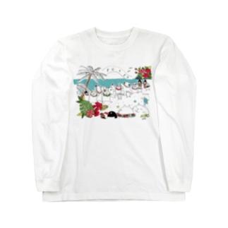 Aloha mai スクエア Long sleeve T-shirts