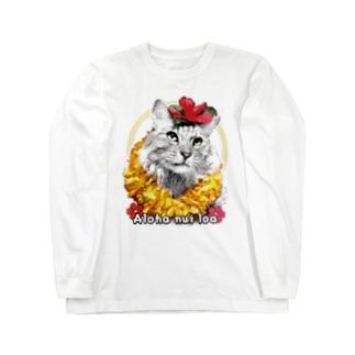 Aloha nui loa Cat Long sleeve T-shirts