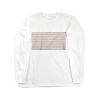 ホワイトピンクタイル Long sleeve T-shirts