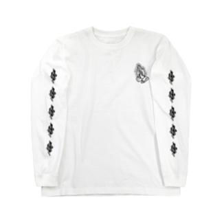 炎と祈りの手 Long Sleeve T-Shirt