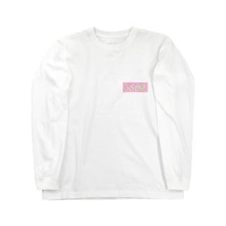 ドットさくらくがき Long sleeve T-shirts