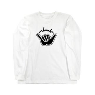 dacci シャカサイン(黒) Long sleeve T-shirts