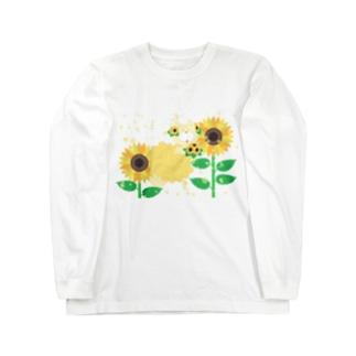 夏だよ!ひまわりの妖精 Long sleeve T-shirts