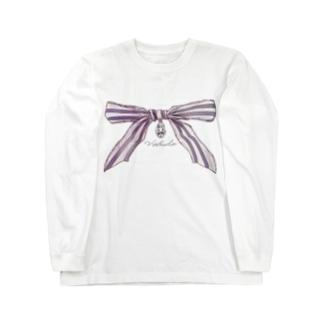 宝石と蝶結び Long sleeve T-shirts