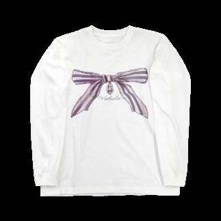 veludoの宝石と蝶結び Long sleeve T-shirts
