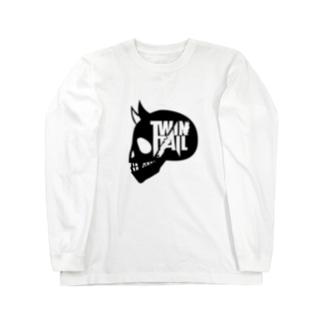 TWINTAIL-black skull Long sleeve T-shirts
