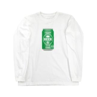 缶ビール Long sleeve T-shirts
