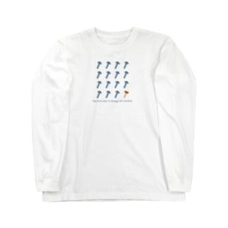 ネジに紛れてシイタケ Long sleeve T-shirts