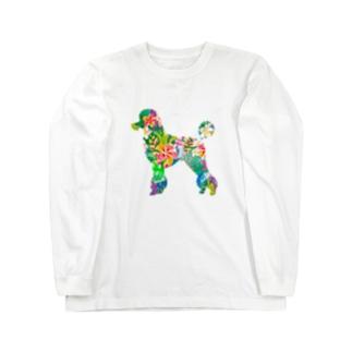 プードルハワイ Long sleeve T-shirts