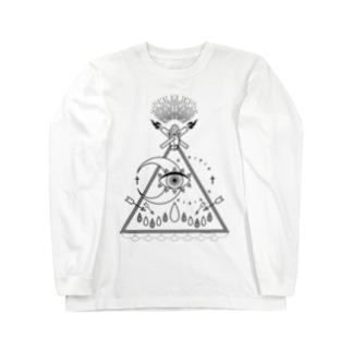 shaman(白) Long sleeve T-shirts