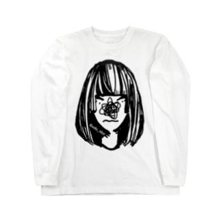 #コンプレックス 鼻隠しガール Long sleeve T-shirts