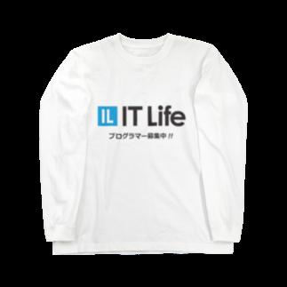 IT LifeのIT Life - プログラマ募集ver Long sleeve T-shirts