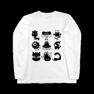 irodoruhanaの変な生き物 Long sleeve T-shirts