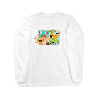 お寿司にゃん Long sleeve T-shirts