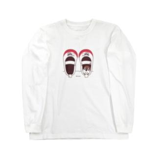 CT165 スズメがちゅん*うわばきちゅんA*イラストサイズ普通ver.* Long Sleeve T-Shirt
