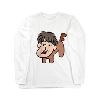 人面犬「たか爺」 Long sleeve T-shirts