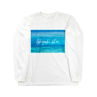 Ishigaki blue Long sleeve T-shirts