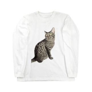 キジ猫見返り美人ミミちゃん Long sleeve T-shirts
