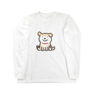 ◆おすわりこわんこ Long sleeve T-shirts