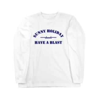 dacci ホリデイ(青) Long sleeve T-shirts