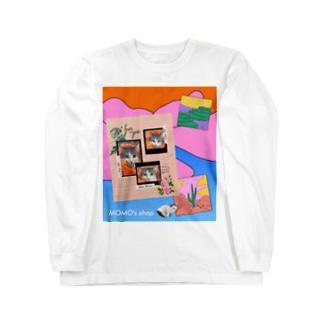 MOMOのレトロなデザイン #01 Long sleeve T-shirts